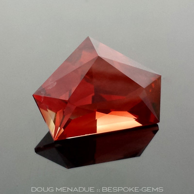 Oregon Sunstone, Tess's Pentagram, #623 - Doug Menadue :: Bespoke Gems - Master gemcutter and lapidary artist specialising in fine custom cut precision gems from a wide range of select facet gem rough. Located in Sydney, Australia.