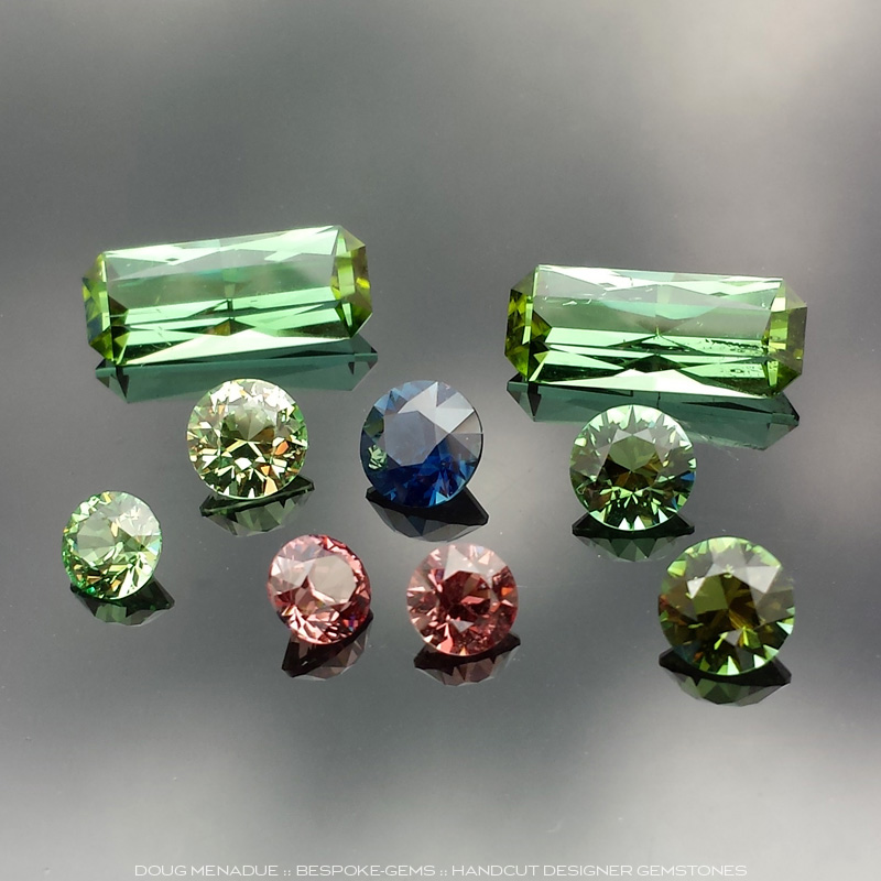 Mixed Tourmalines, Garnets and Sapphire, Asscher Cut, O'Briens Creek, Mt Surprise, North Queensland, Australia, #634