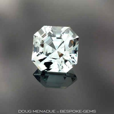 Natural Blue Topaz, Asscher Cut, #643 - Doug Menadue :: Bespoke Gems - Master gemcutter and lapidary artist specialising in fine custom cut precision gems from a wide range of select facet gem rough. Located in Sydney, Australia.