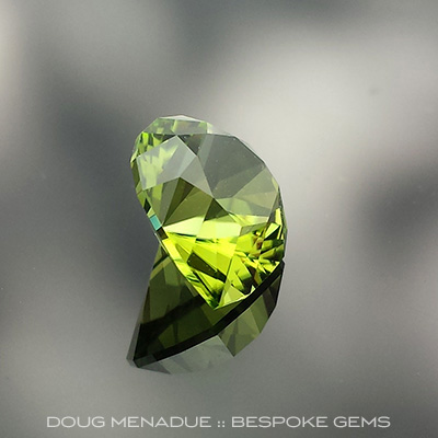 Peridot, Brilliant Pear, Pakistan, #657