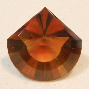 Citrine (Ox-Blood Madeira), Hor-I-Zon, #68 - Doug Menadue :: Bespoke Gems - Master gemcutter and lapidary artist specialising in fine custom cut precision gems from a wide range of select facet gem rough. Located in Sydney, Australia.