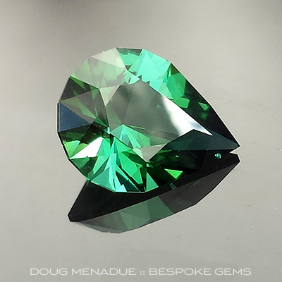 Tourmaline, Brilliant Pear, #692 - Doug Menadue :: Bespoke Gems - Master gemcutter and lapidary artist specialising in fine custom cut precision gems from a wide range of select facet gem rough. Located in Sydney, Australia.