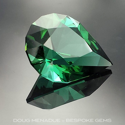 Green Tourmaline, Brilliant Pear, Afghanistan, #692