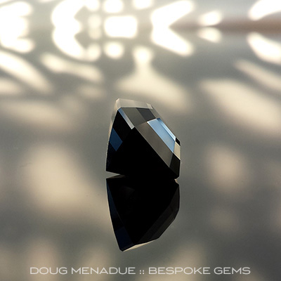 Black Spinel, Asscher Cut, Thailand, #695