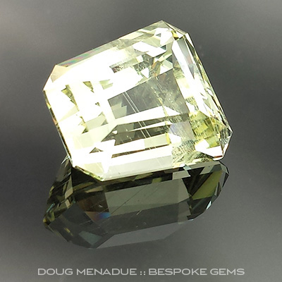 Heliodor, Tapered Step Cut, #703 - Doug Menadue :: Bespoke Gems - Master gemcutter and lapidary artist specialising in fine custom cut precision gems from a wide range of select facet gem rough. Located in Sydney, Australia.