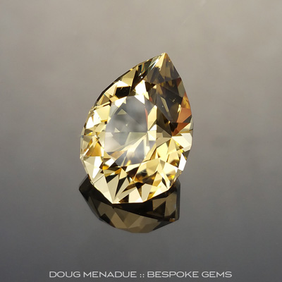#877, Golden Beryl, Utopia Pear, 7.43ct - Doug Menadue :: Bespoke Gems