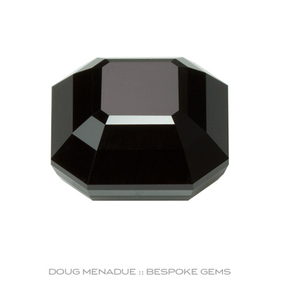 Black Spinel, Signet Asscher, Rubyvale, Central Queensland, Australia, #879