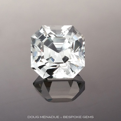 Aquamarine, Asscher Cut, #882 - Doug Menadue :: Bespoke Gems - Master gemcutter and lapidary artist specialising in fine custom cut precision gems from a wide range of select facet gem rough. Located in Sydney, Australia.
