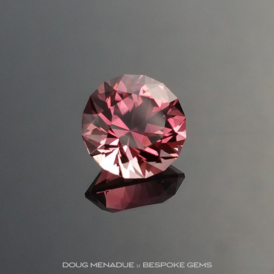 Pink Tourmaline, Brilliant Royale, Nigeria, #889, 2.02 Carats, 7.85x7.85x5.7mm, Precision Hand Faceted By Doug Menadue :: Bespoke Gems