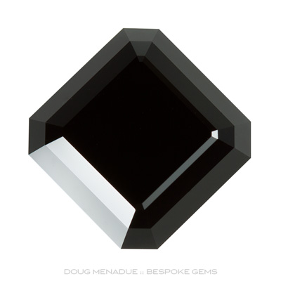 Cowell Black Jade, Signet Asscher, #890 - Doug Menadue :: Bespoke Gems - Master gemcutter and lapidary artist specialising in fine custom cut precision gems from a wide range of select facet gem rough. Located in Sydney, Australia.
