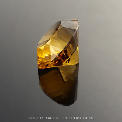 Golden Honey Citrine, Ten Main Oval, Brazil, #893, 29.32 Carats, 24.37x18.57x13.63mm, Precision Cut By Doug Menadue :: Bespoke Gems