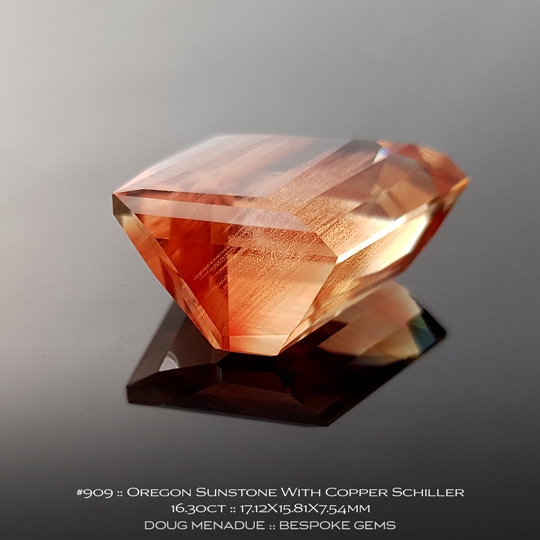 #909, Sunstone Copper, Freeform, 16.30 Carats, 17.12X15.81X7.54mm - A beautiful natural Sunstone from the gemfields around Oregon - Doug Menadue :: Bespoke Gems :: WWW.BESPOKE-GEMS.COM - Finest Quality Precision Custom Gemcutting and Lapidary Services Based In Sydney Australia