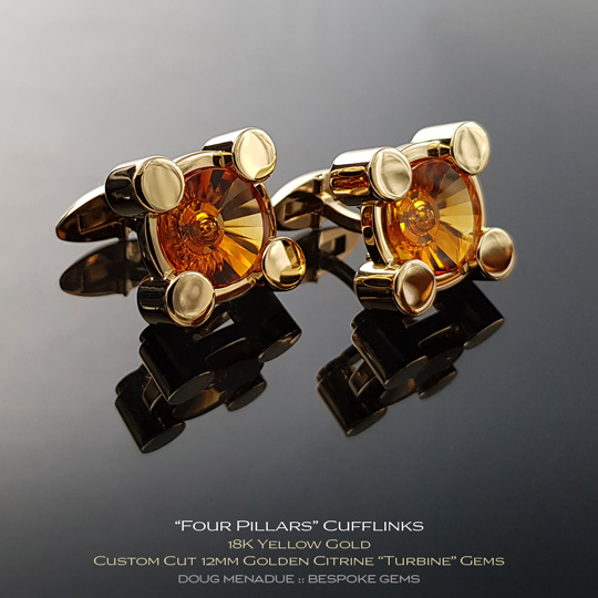 #bgj101, Four Pillars Cufflinks - A beautiful natural Braziln Amethyst - Doug Menadue :: Bespoke Gems - WWW.BESPOKE-GEMS.COM - Precision Gemcutting and Lapidary Services In Sydney Australia