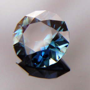 Sapphire, Round Brilliant, #bb17 - Doug Menadue :: Bespoke Gems - Master gemcutter and lapidary artist specialising in fine custom cut precision gems from a wide range of select facet gem rough. Located in Sydney, Australia.