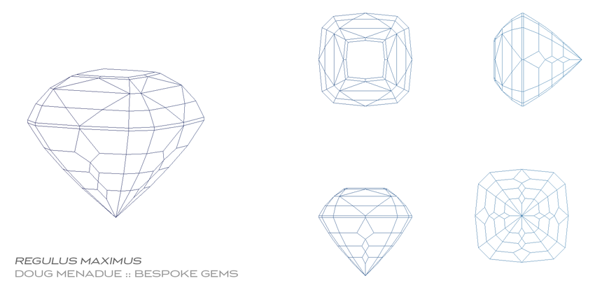 Regulus Maximus, A custom gem design by Doug Menadue :: Bespoke Gems