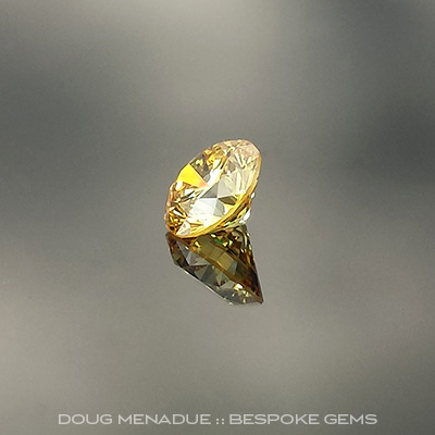YELLOW DIAMOND - VIVID, Round Brilliant, Unknown, possibly African, #VJ692-VIVID