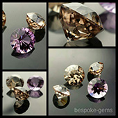 A fine selection of natural Australian champagne zircons and amethyst. I cut these bespoke gems to showcase some of the beautiful stones Australia has to offer and how good they look when theyve been cut and polished in well chosen designs. These gems are rare and limited. - DOUG MENADUE :: BESPOKE GEMS :: Finest Precision Custom Gemcutting Based In Sydney Australia
