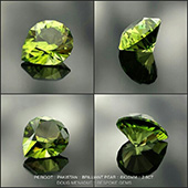 A super pakistani peridot... bright green and on fire! This one is cut in the Brilliant Pear design and is 8x10mm 2.6 carats. Magic!  - DOUG MENADUE :: BESPOKE GEMS :: Finest Precision Custom Gemcutting Based In Sydney Australia - WWW.BESPOKE-GEMS.COM