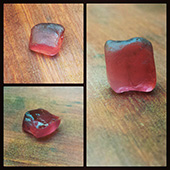 A sweet little piece of pink tourmaline.  Im thinking of faceting this into a nice little gem, probably something flat that would be good for a pendant - DOUG MENADUE :: BESPOKE GEMS :: Finest Precision Custom Gemcutting Based In Sydney Australia