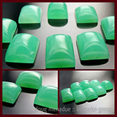 Australian Chrysoprase :: suite of square and rectangle cabochons, finest luscious verdant green - DOUG MENADUE :: BESPOKE GEMS :: Finest Precision Custom Gemcutting Based In Sydney Australia