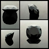 Black Spinel :: victoria regent :: 20.5ct :: 16x16x11mm :: a superb flawless black spinel... this material is the ultimate if you are looking for a black gemstone. - DOUG MENADUE :: BESPOKE GEMS :: Finest Precision Custom Gemcutting Based In Sydney Australia