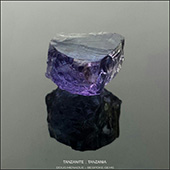 Delicious piece of tanzanite that should cut 6-7mm round. A beautiful stone that will facet an exceptional bespoke gem.  AVAILABLE.  - DOUG MENADUE :: BESPOKE GEMS :: Finest Precision Custom Gemcutting Based In Sydney Australia - WWW.BESPOKE-GEMS.COM