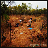 Digging for topaz just after rain. .. The colours are rich and intense, the smell of the Bush and earth and rain all mingled. - DOUG MENADUE :: BESPOKE GEMS :: Finest Precision Custom Gemcutting Based In Sydney Australia
