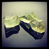 Heliodor :: yellow-green beryl :: these rough stones will all cut large bright beautiful gems. Contact me if you are interested. - DOUG MENADUE :: BESPOKE GEMS :: Finest Precision Custom Gemcutting Based In Sydney Australia