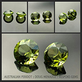 Here is a beautiful pair of matched Australian peridots that I recently cut for a customer. - DOUG MENADUE :: BESPOKE GEMS :: Finest Precision Custom Gemcutting Based In Sydney Australia