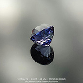 How about a bit of tanzanite love? Here is a sweet little tanzanite I finished the other day. I cut it in my Antique Round design which is a more classical style of cut. The gem is 6.5mm and 1.6ct. The colour is a violet blue and very beautiful. *AVAILABLE*  - DOUG MENADUE :: BESPOKE GEMS :: Finest Precision Custom Gemcutting Based In Sydney Australia - WWW.BESPOKE-GEMS.COM