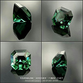 Lovely teal tourmaline cut in the classic Asscher design. I love the way gems embody pure colour... where else can you hold pure colour made manifest in your hand. :-)  - DOUG MENADUE :: BESPOKE GEMS :: Finest Precision Custom Gemcutting Based In Sydney Australia - WWW.BESPOKE-GEMS.COM