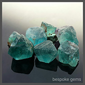 Neon paraiba blue fluorite from afghanistan. The colour of these stones is intense, really beautiful, its not a colour you see alot of. - DOUG MENADUE :: BESPOKE GEMS :: Finest Precision Custom Gemcutting Based In Sydney Australia