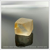 One of my favorite topaz crystals that I found at obriens creek. It is a nice natural cube with a beveled corner. It has a lovely feel to it and a sculptural aesthetic appearance. I have a nice collection of such topaz crystals... these wont be faceted.  - DOUG MENADUE :: BESPOKE GEMS :: Finest Precision Custom Gemcutting Based In Sydney Australia - WWW.BESPOKE-GEMS.COM
