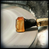 Started a new bespoke gem. This is going to be a golden citrine cut in the modern classic Smith Bar design. - DOUG MENADUE :: BESPOKE GEMS :: Finest Precision Custom Gemcutting Based In Sydney Australia