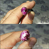 Teaser pics... here is the Kalli Oval tourmaline fresh off the dop and in the sunlight for the first time... it took my breath away. The pics just cant capture how stunning this gem is. It just lit up like a pink ball of fire... as if the sun came down and decided to throw a party inside. The colour is like a hot deep candy pink... originally I thought it would be a rubellite and it is inside but it looks like it is a stone of many colors and personalities. It is flawless eye clean, incredible colour and just full of life... totally mesmerizing. It was a mission to facet but oh so worth it. This is what I really love about gemcutting... how a stone can just come to life and you know that this stone is truly alive.   - DOUG MENADUE :: BESPOKE GEMS :: Finest Precision Custom Gemcutting Based In Sydney Australia - WWW.BESPOKE-GEMS.COM