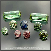 This is a lovely suite of gems that I cut recently for a client from rough stones that they supplied. There are green tourmalines, meralani mint garnets, imperial garnets and a stunning royal blue sapphire. If you have any rough stones and are thinking of getting them cut or would like to know the process or whats involved then please dont hesitate to contact me. Im only too happy to answer any questions. :-)  - DOUG MENADUE :: BESPOKE GEMS :: Finest Precision Custom Gemcutting Based In Sydney Australia - WWW.BESPOKE-GEMS.COM