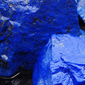 Ultramarine blue lapis lazuli from afghanistan. Best of the best. Lapis lazuli was and still is used today to make the oil painting pigment ultramarine. It was very highly prized and rare. - DOUG MENADUE :: BESPOKE GEMS :: Finest Precision Custom Gemcutting Based In Sydney Australia