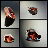 Zircon :: 1.6ct :: 6.5x6.5mm :: mudtank, harts ranges., N.T. Australia :: zircons are probably the only gemstone that can match or exceed diamonds in brillance and fire. Because of its high refractive index and strong dispersion, Zircon has great brillance and intense fire. Zircon is a completely natural stone and should not be confused with cubic zirconia (cz) which is man made. Natural zircons are incredible. This one is a champagne color. .. Every wished you had a champagne diamond but the process were just plain crazy... well here is the answer. These zircons come from a remote locatiob in the centre of Australia and have all been hand dug. Available in a range of color from  to plum to a deep brandy. - DOUG MENADUE :: BESPOKE GEMS :: Finest Precision Custom Gemcutting Based In Sydney Australia