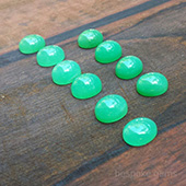 Chrysoprase cabochons :: beautiful natural untreated amazing green chrysoprase from Australia. - DOUG MENADUE :: BESPOKE GEMS :: Finest Precision Custom Gemcutting Based In Sydney Australia
