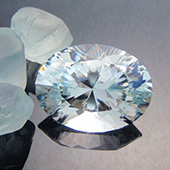 natural blue topaz :: 20ct :: 14.8x19.8x10.5mm :: obriens ck, nth qld, australia :: ten main oval :: this is the most exquisite natural blue topaz oval gems you are likely to find. It is a stunning gem and truly one that dazzles all who see it. An exceptionally fine Australian gemstone. See it here on my website :: http://www.bespoke-gems.com/blue-topaz-sold-4.php/image_463 - DOUG MENADUE :: BESPOKE GEMS :: Finest Precision Custom Gemcutting Based In Sydney Australia