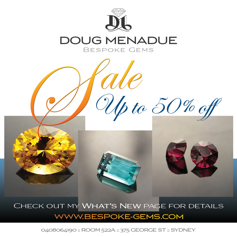 Doug Menadue :: Bespoke Gems :: WWW.BESPOKE-GEMS.COM - Finest Quality Precision Custom Gemcutting and Lapidary Services Based In Sydney Australia