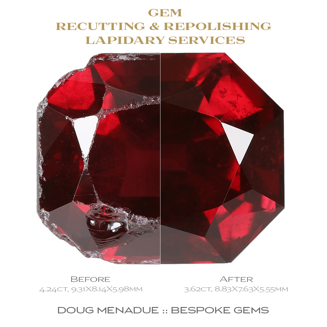 Doug Menadue :: Bespoke Gems, Repolishing old gems will make them look better then new!