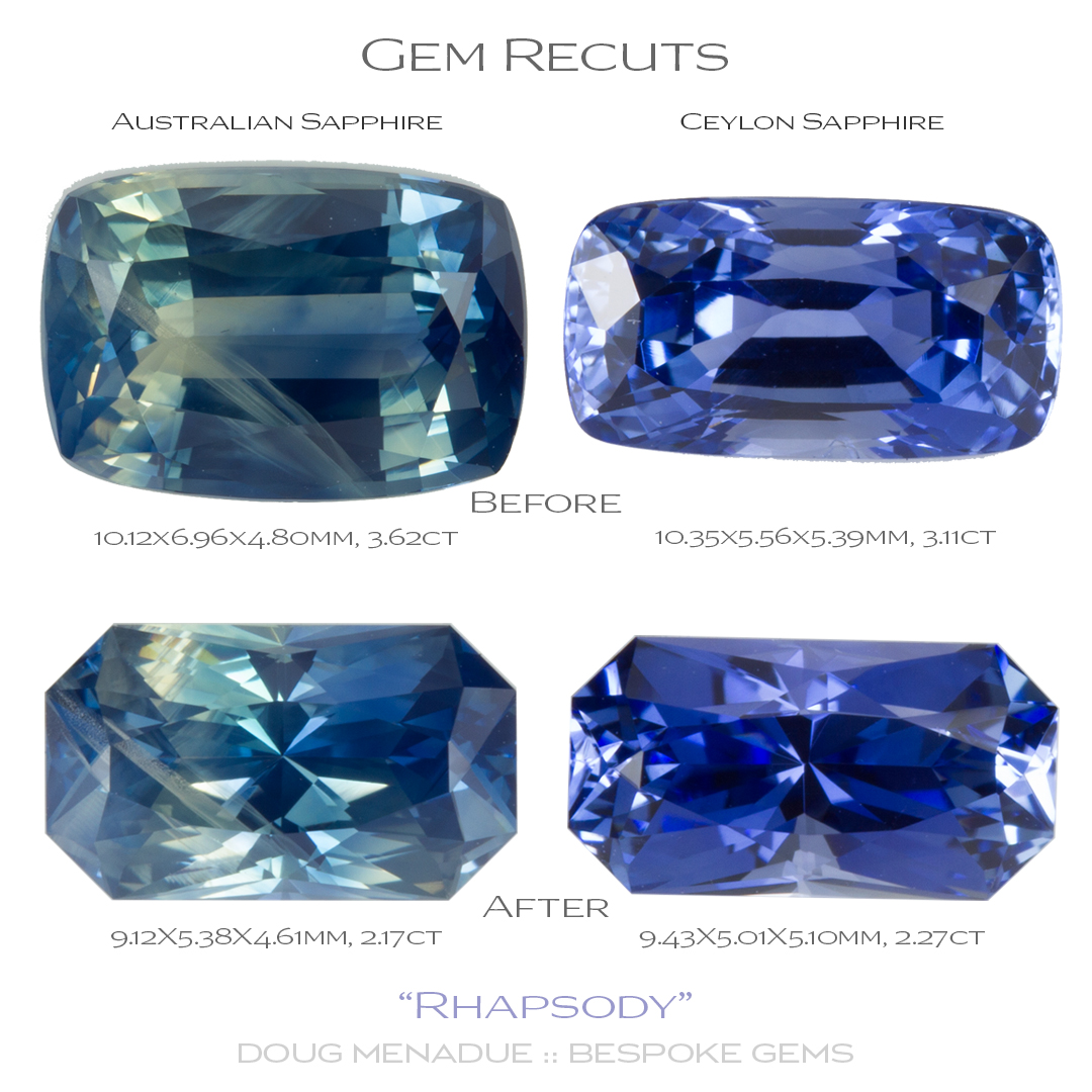 Doug Menadue :: Bespoke Gems, Ugly gems can be recut to greatly improve their appearance and value.