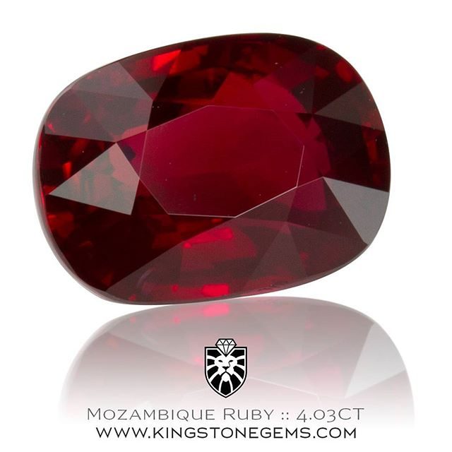 A beautiful 4.03 carat Mozambique ruby cut in a rectangle cushion. A top class gem with excellent color and almost eye clean. This fine ruby is available for inspection this week in Sydney. Contact me for more information.  WWW.KINGSTONEGEMS.COM  SYDNEY CBD AUSTRALIA - Precision Gemcutting and Lapidary Services Located In Sydney Australia