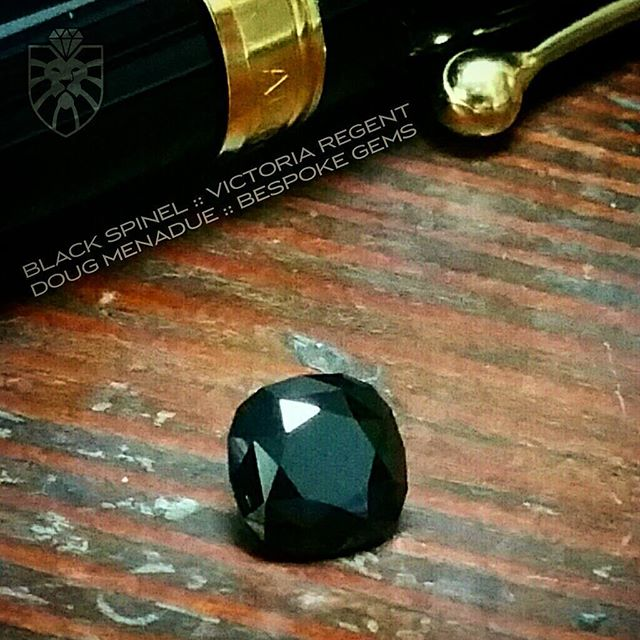A glossy black spinel that I recently finished for a client. Black spinel is my gem of choice if you are looking for a pure jet black gemstone, they are absolutely beautiful.  DOUG MENADUE :: BESPOKE GEMS  WWW.BESPOKE-GEMS.COM  SYDNEY - Precision Gemcutting and Lapidary Services Located In Sydney Australia