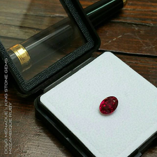 A very fine natural Mozambique ruby oval 4.1 carats. It also has a mate,  another very fine ruby cushion just a smidge over 4 carats as well. Available for sale and private viewing in Sydney this week only. More pics and details to come.  Contact me for additional  info.  WWW.KINGSTONEGEMS.COM  SYDNEY CBD AUSTRALIA - Precision Gemcutting and Lapidary Services Located In Sydney Australia