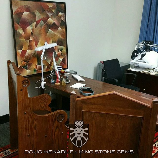 Another pic of the new office.  Drop by of you're in the area.  WWW.KINGSTONEGEMS.COM - Precision Gemcutting and Lapidary Services Located In Sydney Australia