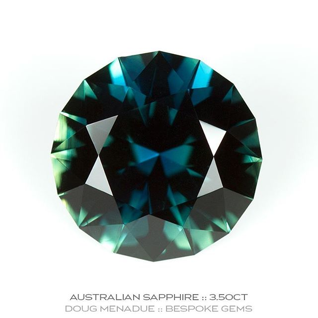 Another superb Australian sapphire from the Central Queensland gemfields around Rubyvale. This is a magnificent stone, bright, colourful and richly hued. It has been cut in the classic Round Brilliant design which is the perfect cut for this truely Australian gem. 3.50ct 9.18mm. Available and on display at @courtesyoftheartist.  DOUG MENADUE  WWW.BESPOKE-GEMS.COM  SYDNEY CBD AUSTRALIA - Precision Gemcutting and Lapidary Services Located In Sydney Australia