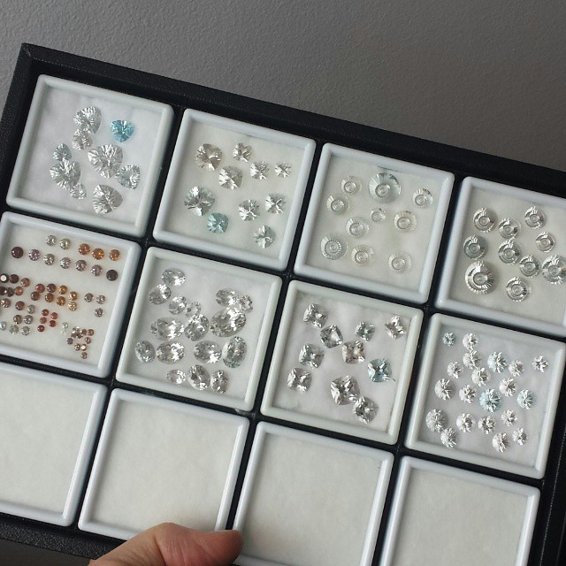 Australian natural zircons and topaz.  WWW.BESPOKE-GEMS.COM - Precision Gemcutting and Lapidary Services Located In Sydney Australia