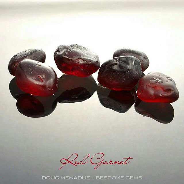 Beautiful deep red garnets that look like wine when cut. Classic!  DOUG MENADUE  WWW.BESPOKE-GEMS.COM - Precision Gemcutting and Lapidary Services Located In Sydney Australia